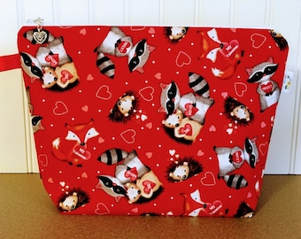 Valentine's Day Knitting Bag / Medium Size