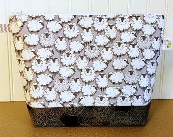 Sheep themed Knitting Project Bag
