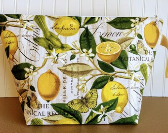 Lemons Extra Large Project Bag - Sweater / Blanket Size