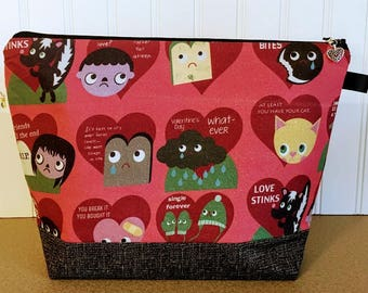 Anti - Valentine Knitting Project Bag - Medium / Shawl Size