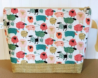 Unraveling Sheep Large Knitting Project Bag