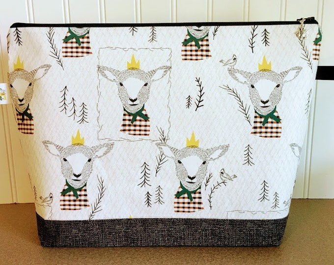 Featured listing image: Sheep Project Bag - Large / Sweater Size
