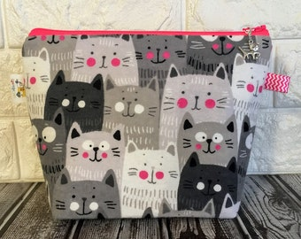 Funny Cats Knitting Project Bag - Small / Sock Size