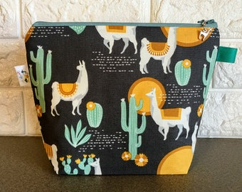 Llamas and Cacti Project Bag - Small