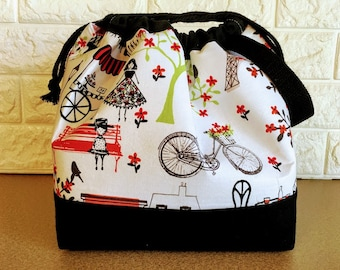 Spring Large Drawstring Knitting Bag