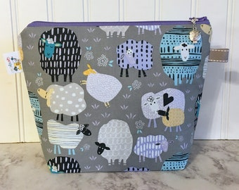 Patterned Sheep Project Bag