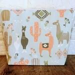 Llama Project Bag, Knitting Tote, Knitting Bag, Knitting Project Bag, Crochet Project Bag, Yarn Tote Bag, Yarn Bowl, Knitting Holder