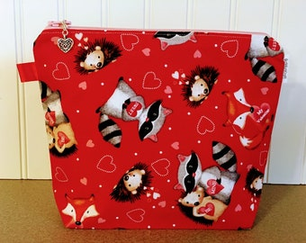 Valentines Knitting bag / Small - Sock Size