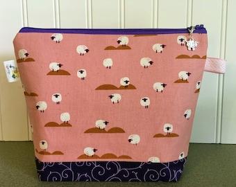 Sheep Knitting Project Bag - Small / Sock Size