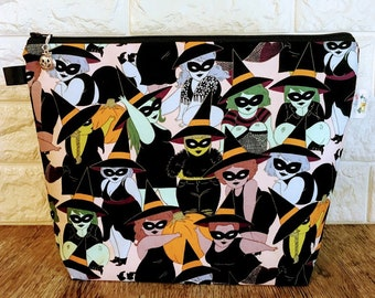 Halloween Witches Knitting Project Bag - Medium / Shawl Size