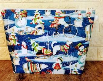 Polar Bears Christmas Project Bag