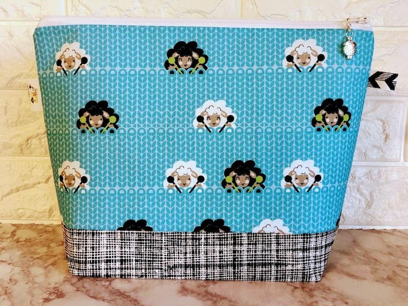 Sheep Knitting Bags Project Bags Project Bag Knitting Bag image 0