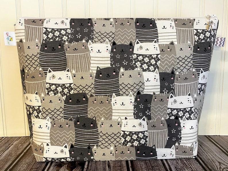 Project Bag for Knitting Zippered Knitting Bag Knitting image 0