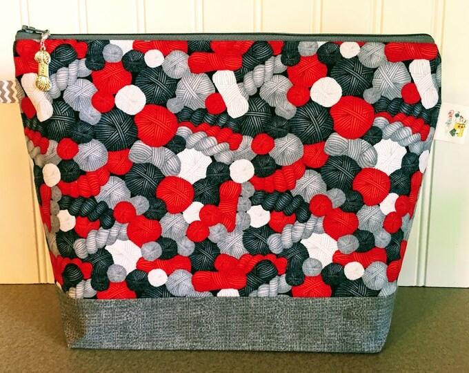 Featured listing image: Yarn Balls Project Bag - Medium / Shawl Size