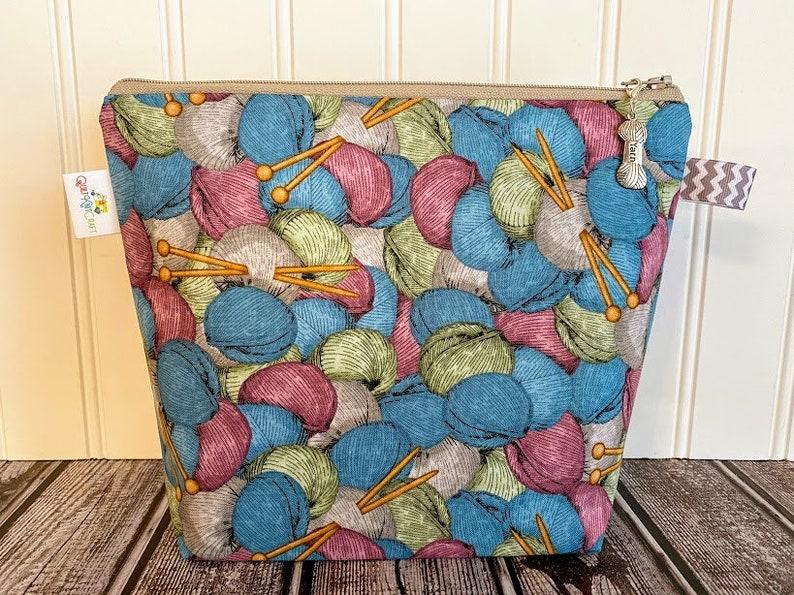 Knitting Project Bag Project Bag Small Knitting Bag Yarn image 0