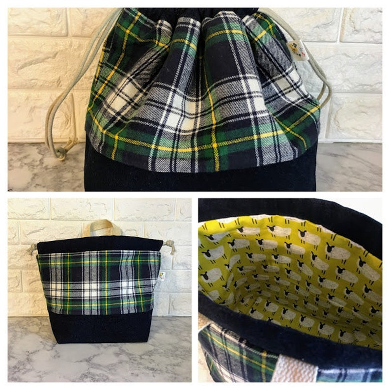 Knitting Project Bag Drawstring Knitting Project Bag Project image 0