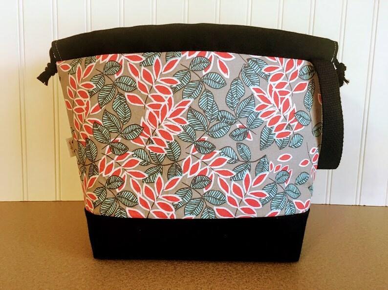 Knitting Project Bag Project Bag Knitting Bag Drawstring image 0