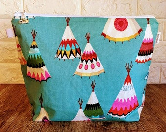 Knitting Project Bag, Knitting Bag, Project Bag, Knitting Tote, Knitting Caddy, Yarn Bowl, Yarn Tote Bag, Crochet Project Bag