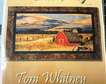 The Back Forty Quilting Kit including fabric, Toni Whitney Designs Quilt Pattern Applique, Barn Farm Quilt Kit, Barn Quilting Pattern