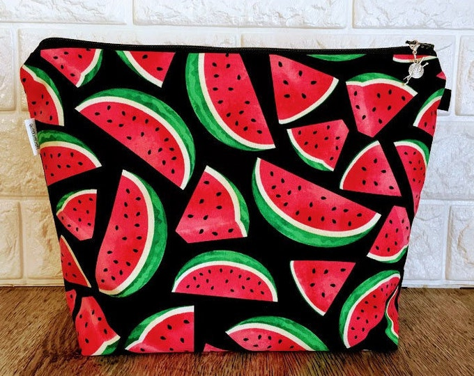 Featured listing image: Watermelon Knitting Project Bag - Medium / Shawl Size