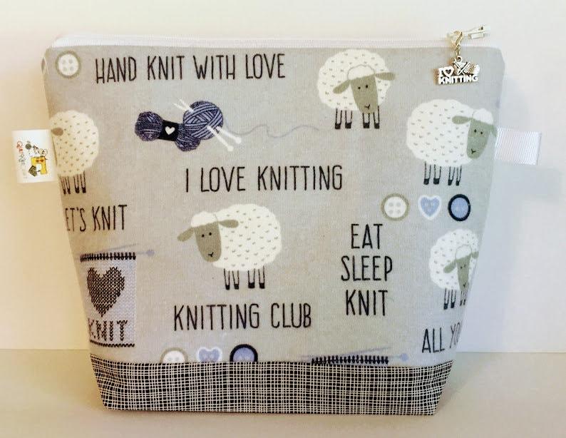 Sheep Knitting Project Bag Knitting Quotes Project Bag image 0