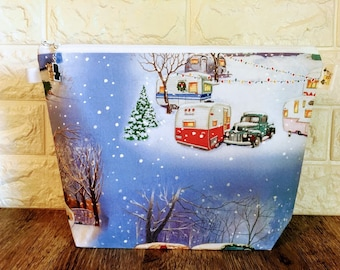 Vintage Camper Knitting Holiday Bag