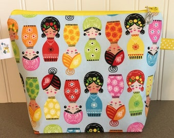 Cute Dolls Project Bag - Small / Sock Size
