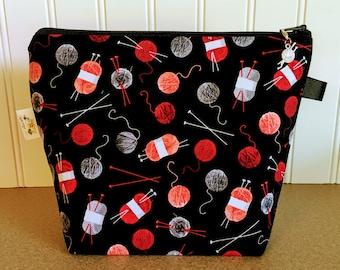 Yarn Knitting Project Bag - Small / Sock Size