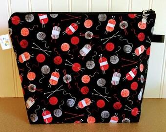 Yarn Knitting Project Bag / Medium Size