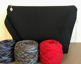 Canvas Knitting Bag- Large / Sweater Size
