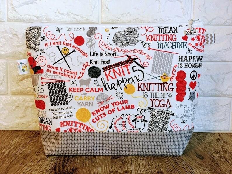 Knit Project Bag Project Bag Knitting Project Bag Zipper image 0