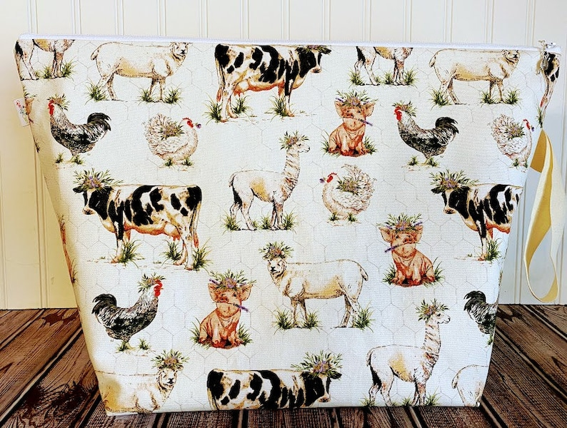 Extra Large Knitting Bag Knitting Project Bag Sheep Knitting image 0