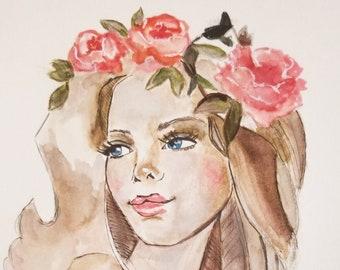 Fashion art, Fashion illustration, fashion bedroom decor, modern fashion wall art, office wall art, fine art fashion print, fashion wall art