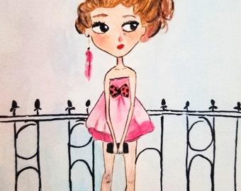 Artwork for kids, Fashion illustration, fashion painting, fashion print, fashion wall art, fashion art, fashion poster, fashion art print