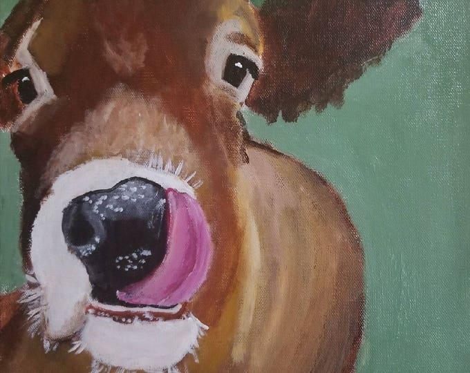 cow art, cow painting, cow canvas print, Farm Animal Print, Cow art print, Farm Art, Cow decor, Cow Illustration, Cow Wall Art
