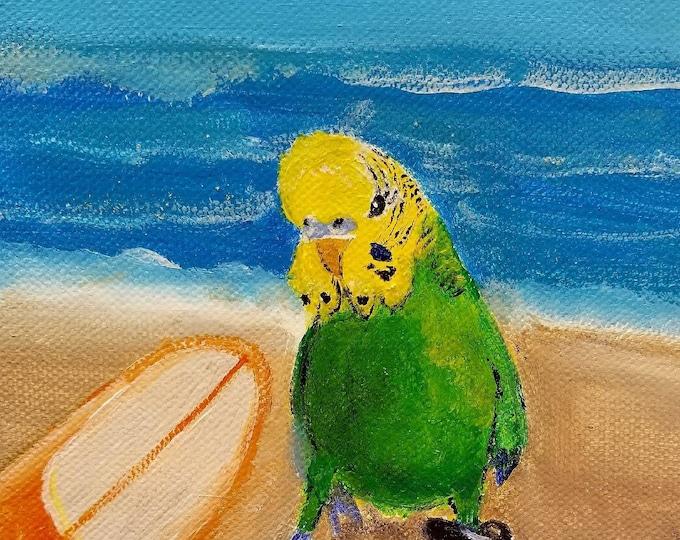 Parakeet art, Bird Print, Green Budgie art, Watercolor Painting, Budgie Print, Wall Art, Budgie Wall Decor, cute Bird art, Art Print