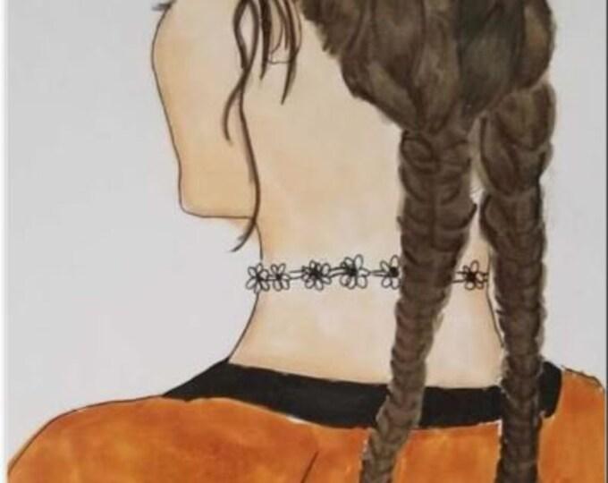 Fine Art ATC/ACEO - fashion artwork - gift for women - gifts for her - feminine art - fashion art print - fashion prints - fashion art