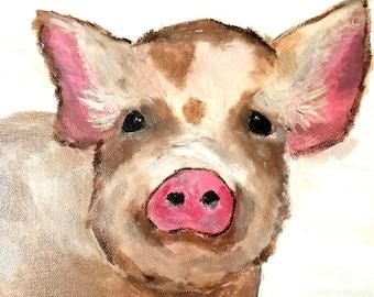 Pig Painting, Pig Art, Pig Print, Pig Artwork, Watercolor, Pig Wall Art, Pink Pig, Pig Illustration, Pig Poster, Pig Wall decor, art