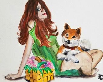 Fashion illustration, fashion illustration print, fashion wall art, fashionista art, fashion poster, fashion wall decor