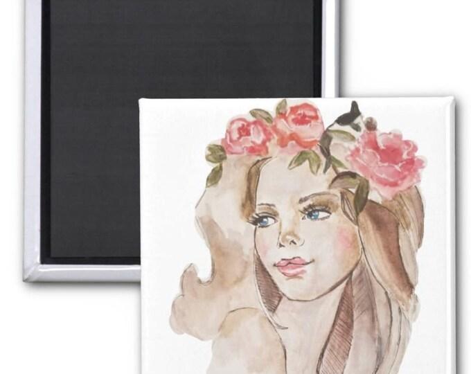 magnets, Fashion Magnets, Fridge magnets, small fashion magnets, fashion art, fashion illustration, fashion painting, fridge decor