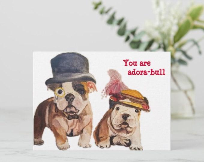 Greeting cards, Bulldog Greeting cards, Bulldog Note Cards, Bulldog Stationery, English Bulldog art, Bulldog Blank Cards, Bulldog painting