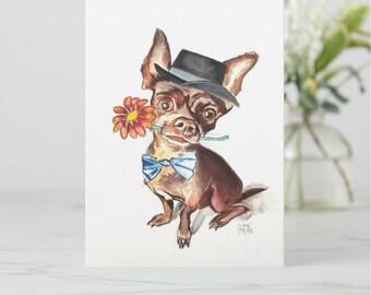 Chihuahua Greeting Card, Chihuahua Card, dog card, Chihuahua birthday card, birthday card, dog lover card, Chihuahua lover card
