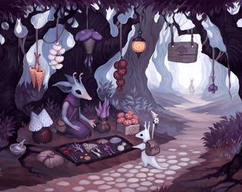 Fungus Vendor - Art Print