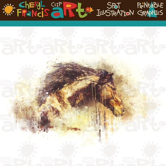 Illustration Featuring Horse Flowing Mane Stock Vector (Royalty Free)  215517892