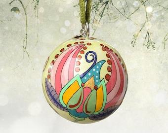 Vine Ornament V18-0715, Christmas Tree Ornament, Christmas Gift, Christmas ornament, hand-painted ornament, unique ornaments