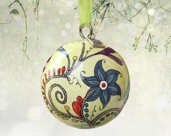 Vine Ornament V18-0713, Christmas Tree Ornament, Christmas Gift, Christmas ornament, hand-painted ornament, unique ornaments