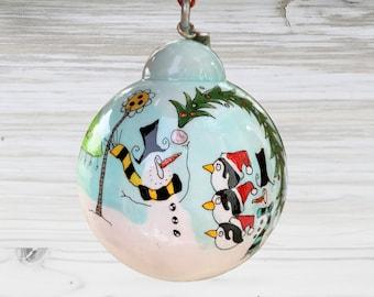 Snowman Ornament - SN_19-0309