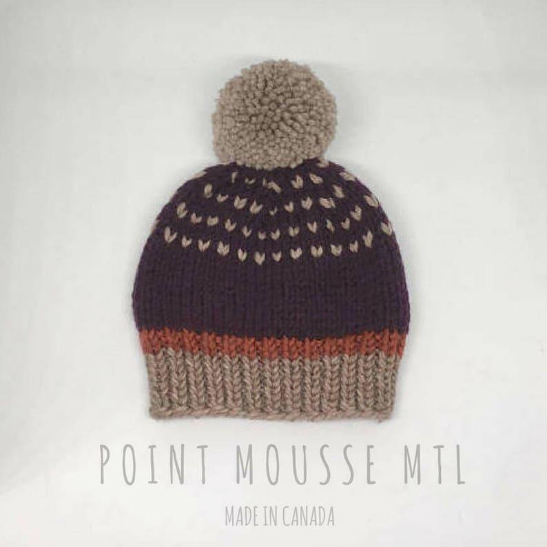 4ae1c43452d Baby knit hat 100% Merino wool wool baby hat baby beanie