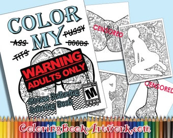 X Rated Color My 6 Page Adult Coloring