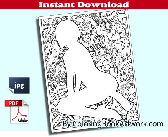 Página de Pose sexy X clasificado adulto para colorear libro | Etsy